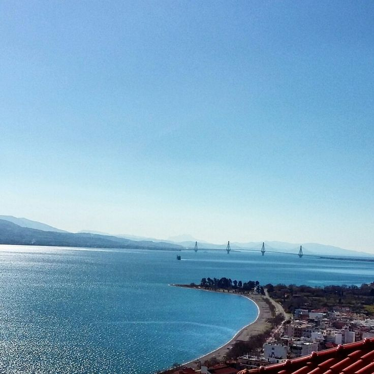 Nafpaktos Greece view from top