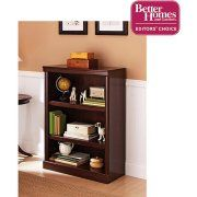"""$69, best price for the good color, but almost 30"""" wide.    Better Homes and Gardens Ashwood Road 3-Shelf Bookcase, Cherry Finish Image 1 of 5"""