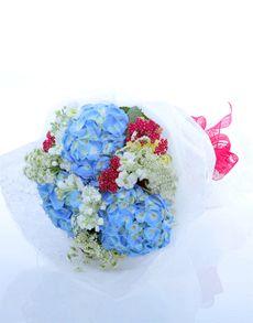 Singapore Flowers: No More Blues Hydrangea Bouquet!