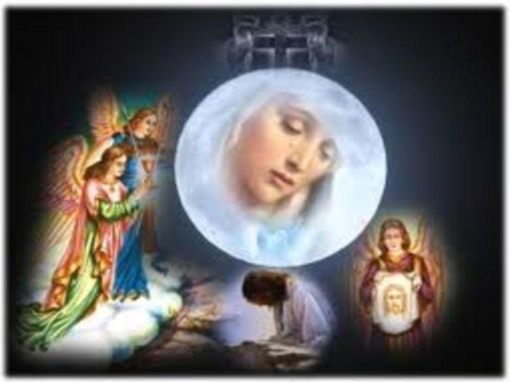 """OPDRACHT VAN MARIA IN DE TEMPEL: ( 21 nov .)  Maria: """"Ik ben de Ark van het Nieuw Verbond. In Mij heeft de Allerhoogste de menselijke natuur voor het eerst sedert Adam en Eva bekleed met de volmaakte heiligheid. Mijn Zoon Jezus Christus zou aan deze vereniging tussen de menselijke natuur en de volmaakte heiligheid nog de volmaakte Goddelijkheid              O"""