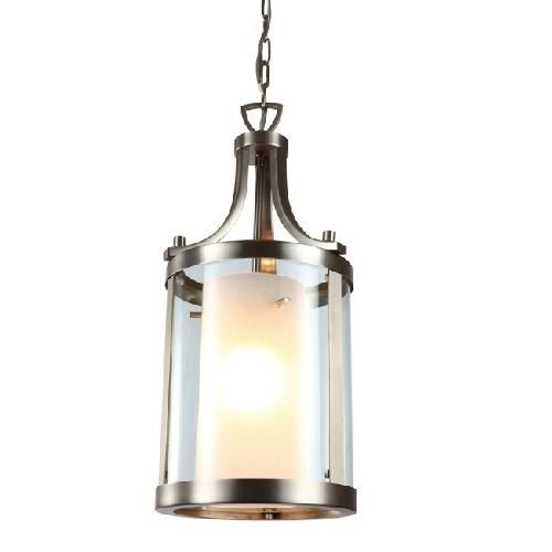 DVI Lighting Essex High 1 Light Pendant Buffed Nickel with Half Opal Glass Indoor Lighting Pendants  sc 1 st  Pinterest & 13 best Hall Light Ideas images on Pinterest | Hall lighting ... azcodes.com