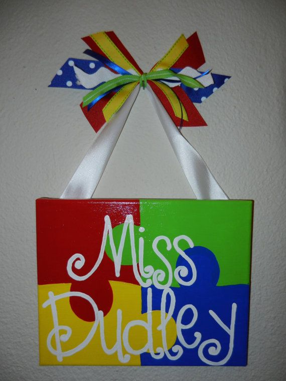Autism Awareness Teacher Sign Great Gift