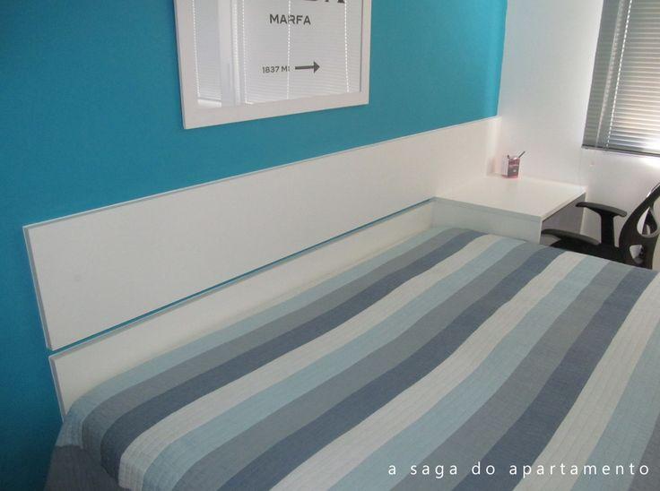 cabeceira branca cama box