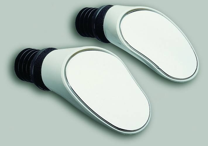 Sprintech bike racing mirrors white pair
