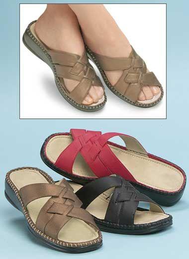 $20 Comfort sandals.