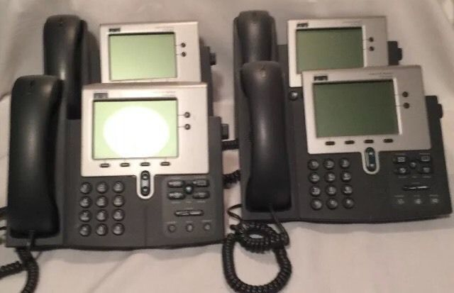 LOT 4 CISCO SYSTEMS CP-7940G 7940 VOIP UNIFIED IP PHONE 7900 SERIES W HANDSETS d #CiscoSystems