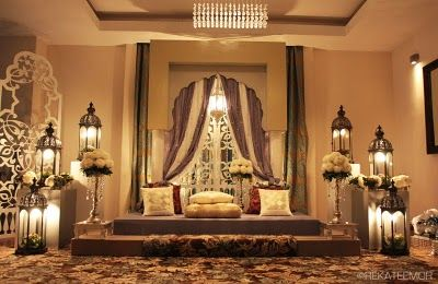 #pelamin #nikah #dais #moroccan #brown #gold     [Image and designed by Reka Teemor]
