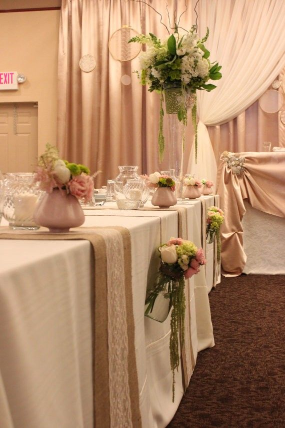 burlap table runners wedding decor 16 best 2014 wedding table runners make table amazing 2141