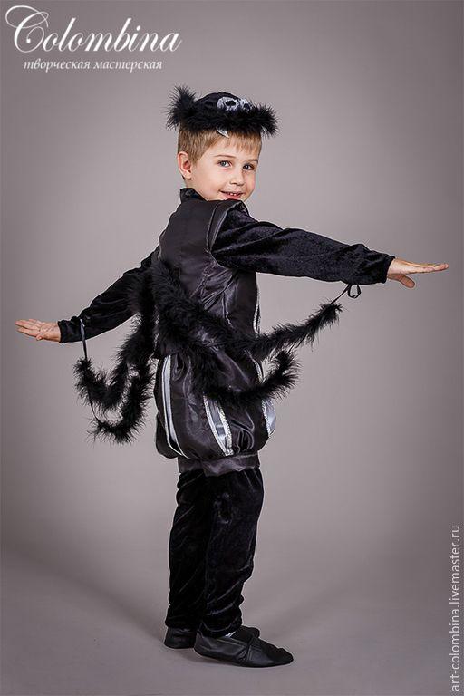 Купить Костюм паука - костюм паука, паук, карнавальный костюм, halloween, черный, атлас, велюр