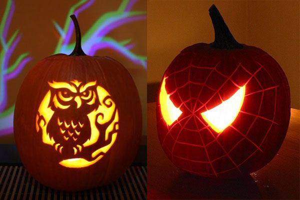 Spider Owl halloween pumpkin carving 30+ Best Cool, Creative & Scary Halloween Pumpkin Carving Ideas 2013