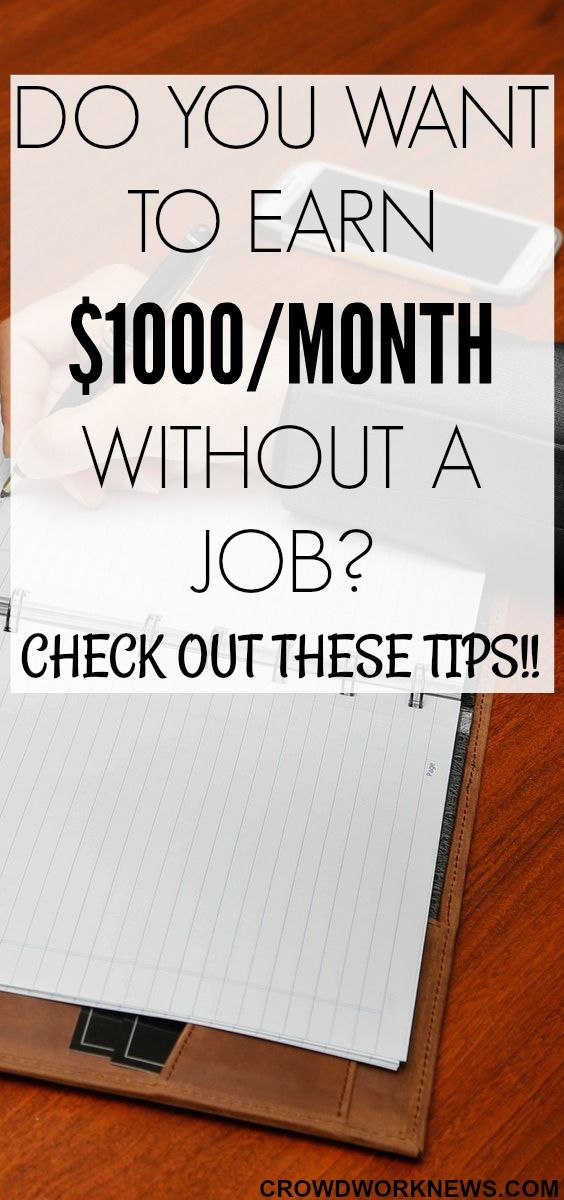 Are you looking for easy and legitimate ways to make around $1000/month without having a real job? Then, you have come to the right place!! Click through to find out how you can earn $1000/month without a job.