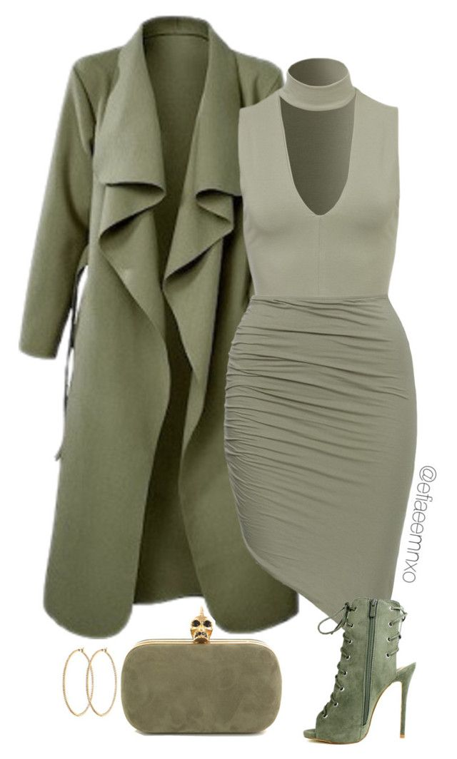 """""""Khaki/Olive"""" by efiaeemnxo ❤ liked on Polyvore featuring Henri Bendel, Alexander McQueen, women's clothing, women, female, woman, misses and juniors"""