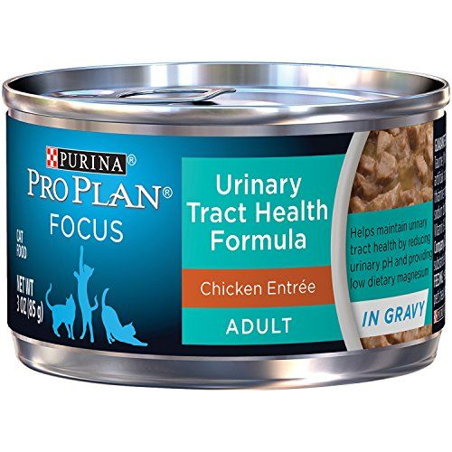 Pro Plan Adult Urinary Tract Health Formula Chicken Entree Canned Cat Food is made with real chicken. It is specially formulated to help support the feline urinary tract system and bolster your cat's...