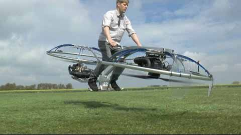 British inventor Colin Furze has built himself a flying hoverbike - similar to the Return of the Jedi's speeder bikes.