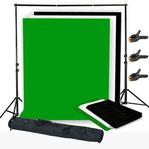 Adjustable Backdrop Support Stand Kit --Black , White: Amazon.co.uk: Camera & Photo