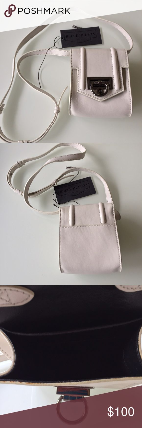 """REESE HUDSON Length 6""""/w 5""""/made in Italy/ took off tags but never used it/ perfect for cell phone, ID and cash/adjustable strap/off white color/no dust bag/ Reece Hudson Bags Mini Bags"""