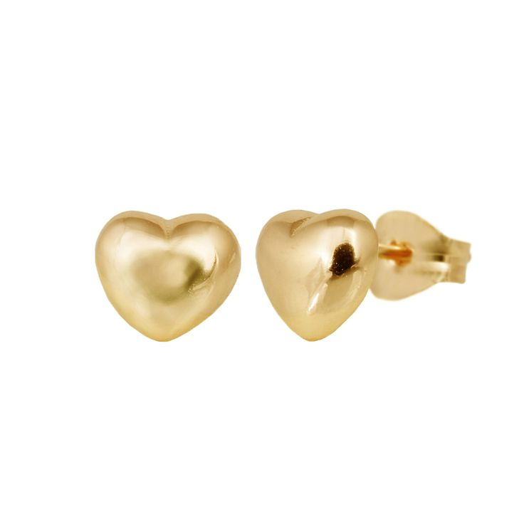 Small heart sterling silver ear studs from Svane & Lührs.   // Worldwide shipping EUR 5 //