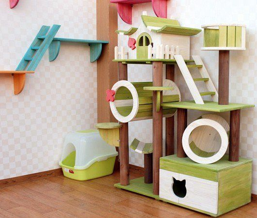 496 best images about cat trees for vertical spacing on for Diy cat playground