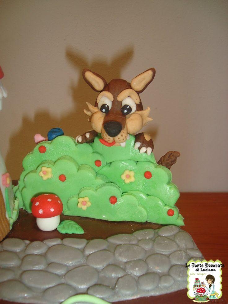 le torte decorate: torta double- face cappuccetto rosso e i tre porcellini
