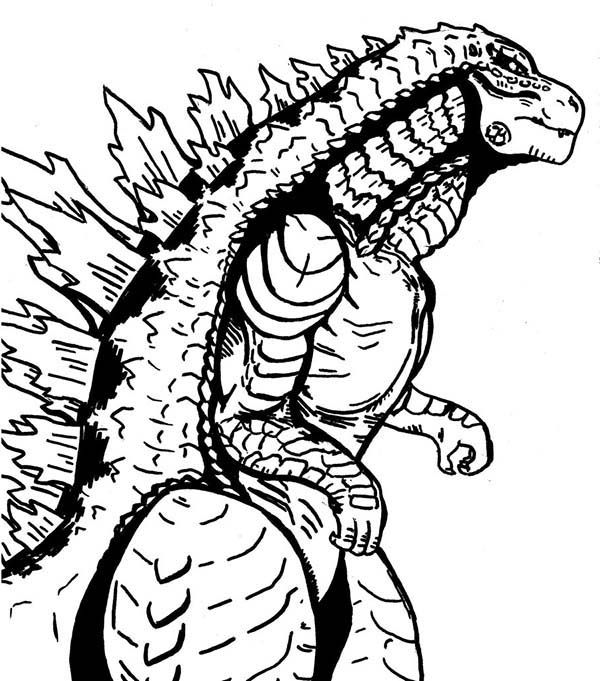 Sea Monster Godzilla Coloring Pages Color Luna Monster