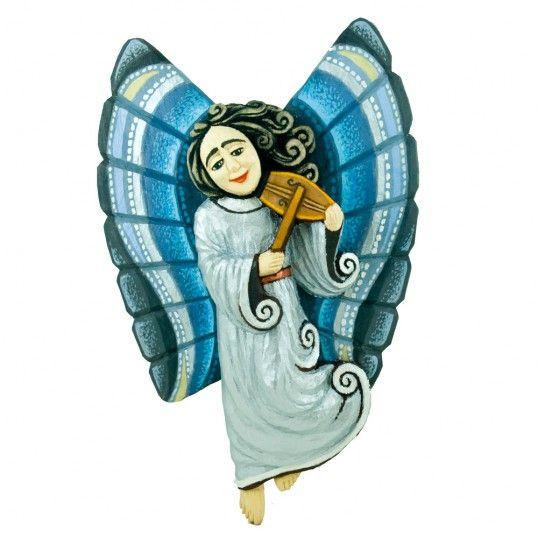 Angel in silver dress by Bolesław Parasion