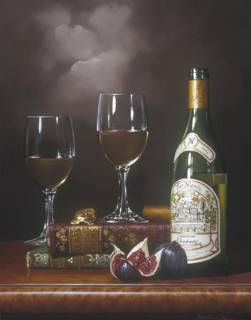 """To Romance"" Rino Gonzalez Giclee on Canvas 14"" x 18"" 150 Signed & Numbered #wine #elegant #fineart"