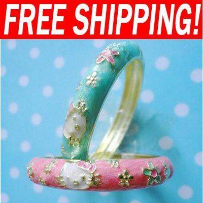 Children kids jewelry hello kitty set costume jewellery cheap hello kitty jewelry bangle bracelet bracelets & bangles brt-f83