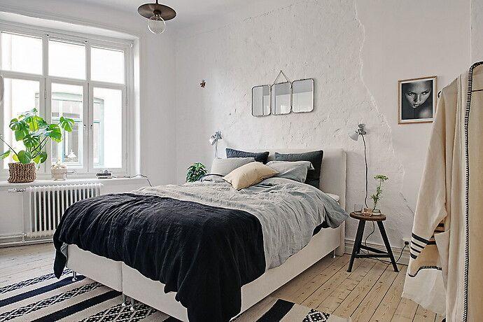 Bilder, Sovrum, Modernt, Säng, Vit, Grå - Hemnet Inspiration