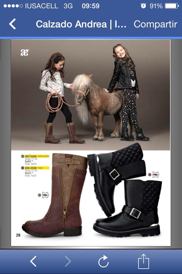 #botas #andrea #zapatos #niña