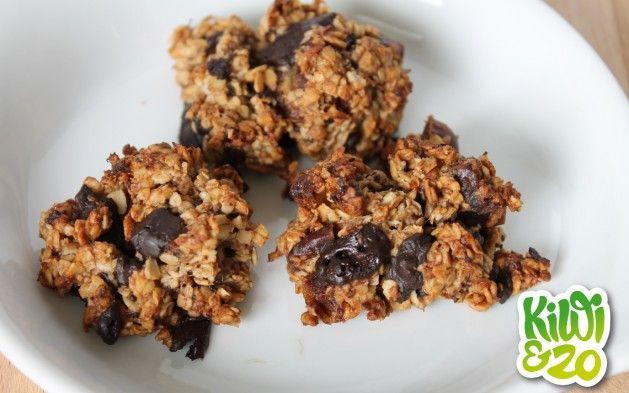 Glutenvrij en suikervrij: Gezonde chocolate chip cookies met havermout en banaan