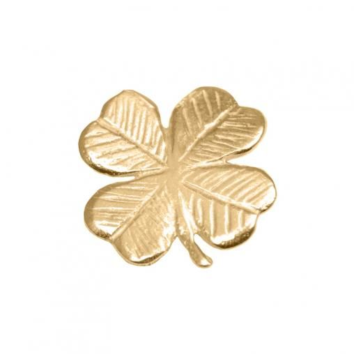 Gold 4-Leaf Clover #treasurepods luck all the way xx