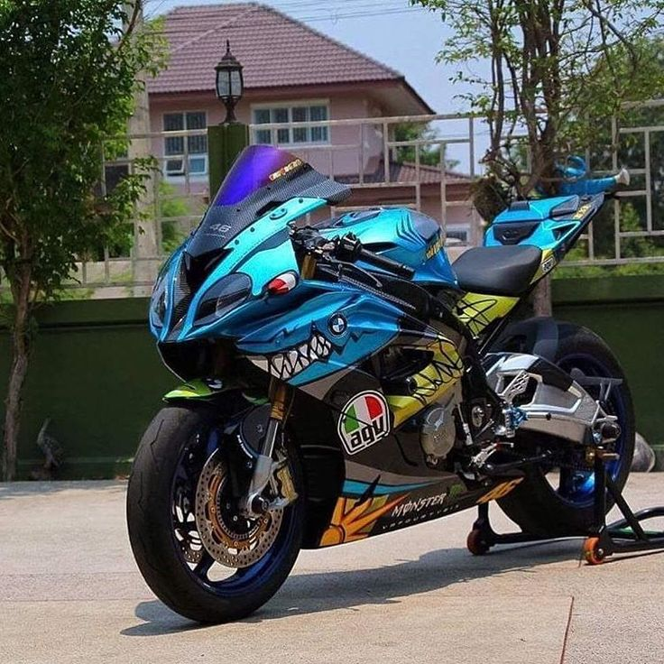 BMW S100RR with a Valentino Rossi makeover