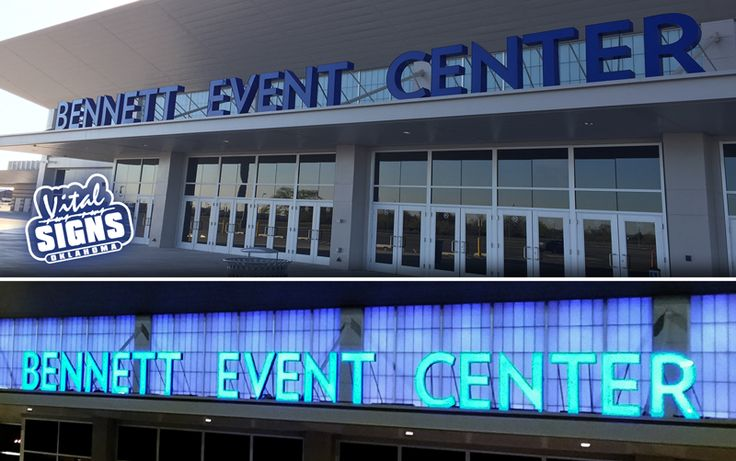 Bennett Event Center @ Oklahoma State Fair Grounds. Front-Lit Channel Letters