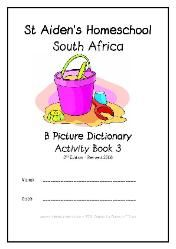 B - Alphabet Picture Dictionary Workbooks/Activity Books, Freebies, download one or download all #Homeschool #education