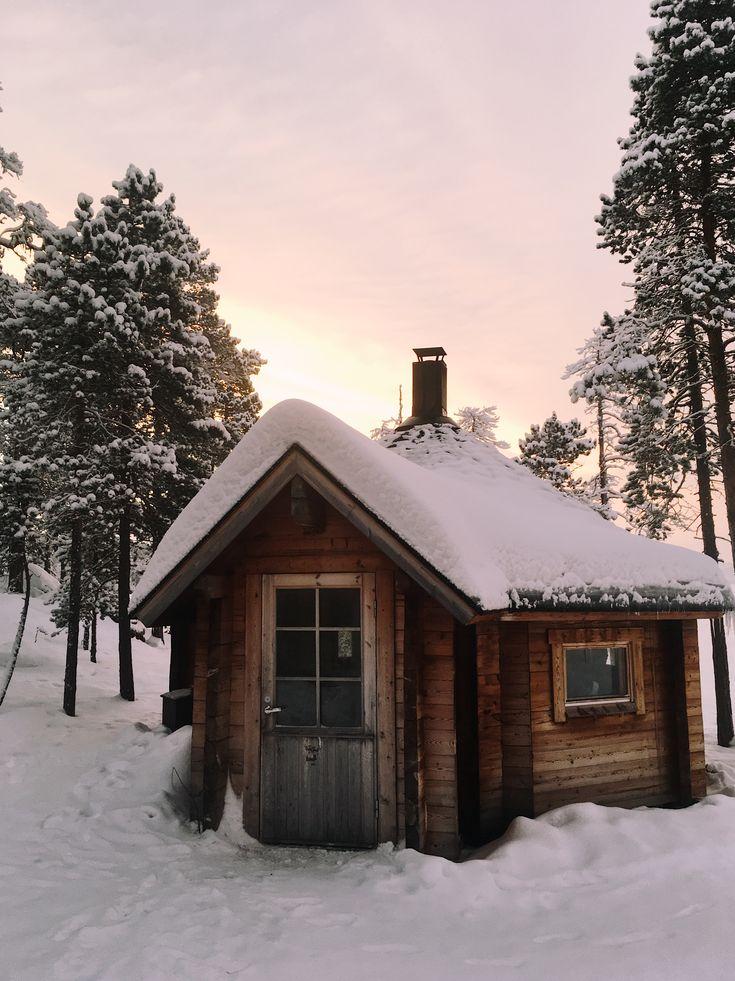 Open wildness hut in Lapland