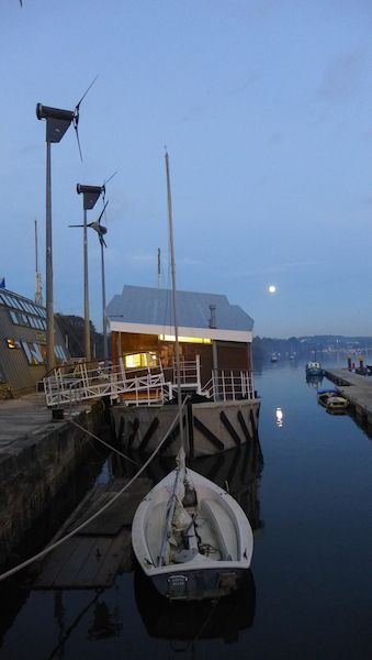Brain of Brian, floating barge, Penryn, Jubilee Wharf, office barge, Miss Peapods, floating office