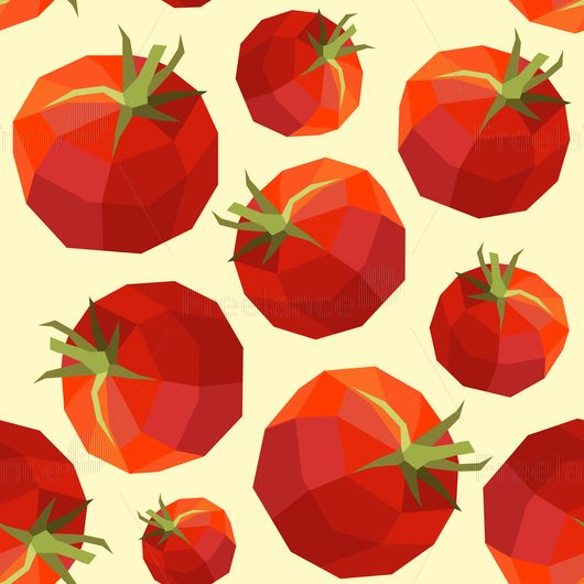 Pattern tomatoes. Buy ready-made vector image.