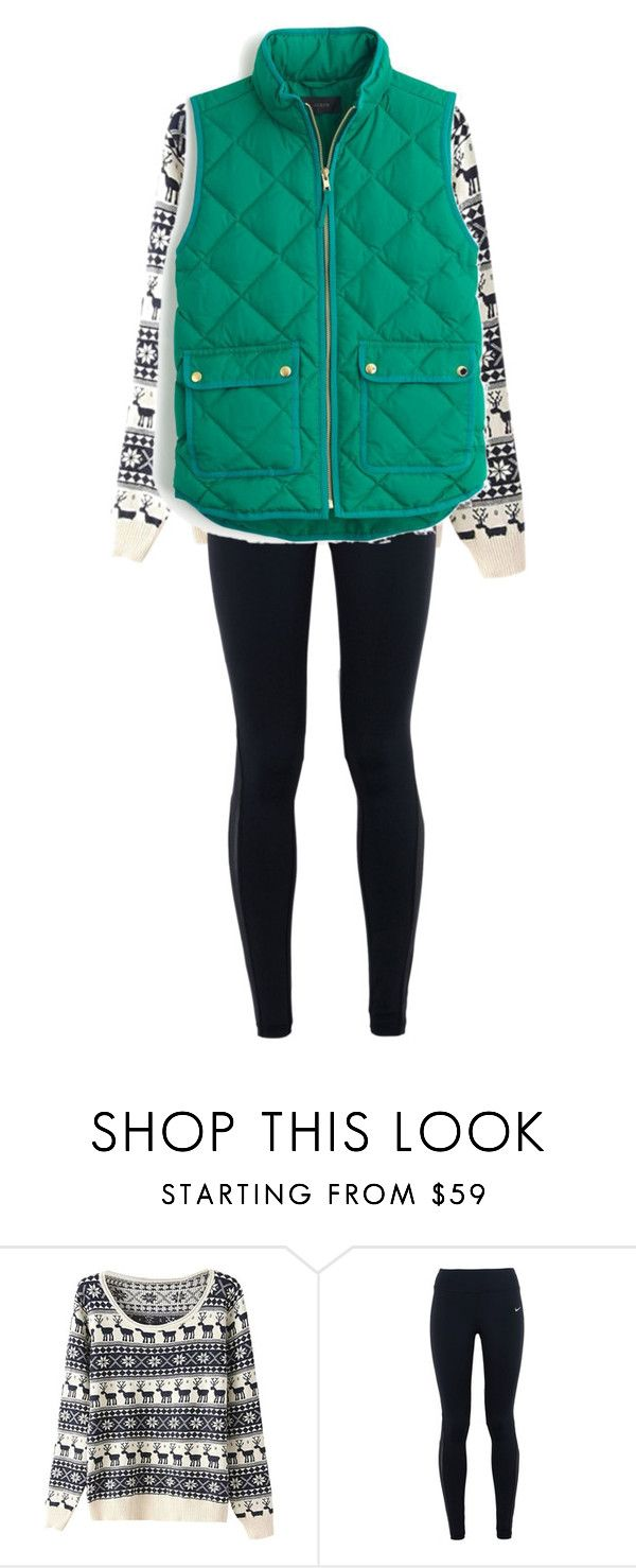 chill by alicejudo on Polyvore featuring mode, J.Crew and NIKE