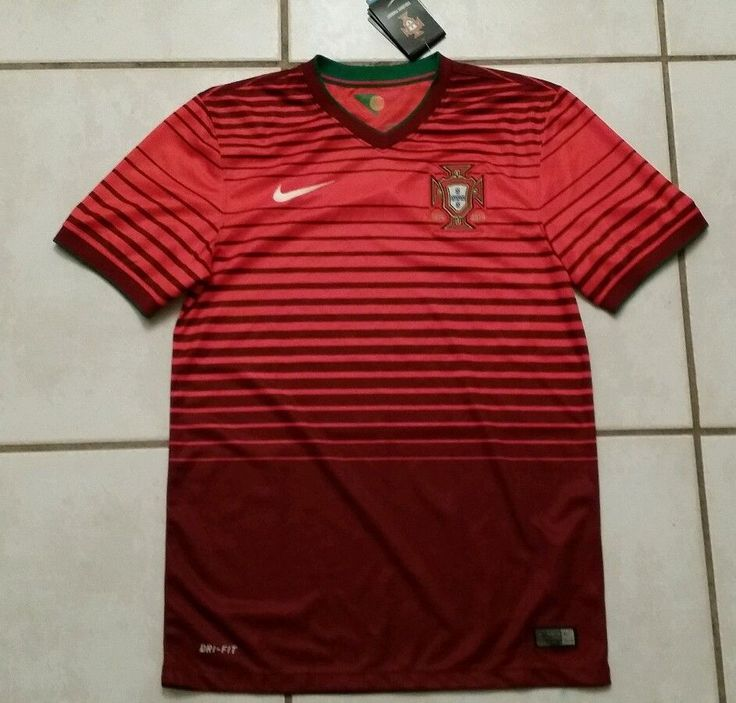 NWT NIKE Portugal National Team 2014 Soccer RED Jersey Men's Small #Nike #Portugal