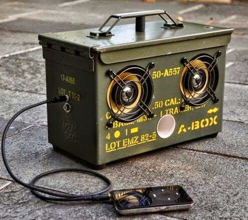 DIY ammo can speakers. I want to make some.