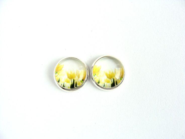 Flowers #3 Stud Earrings by CarolinePrecjoza on Etsy