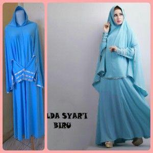 Baju Gamis Cantik Syari Hilda warna Biru