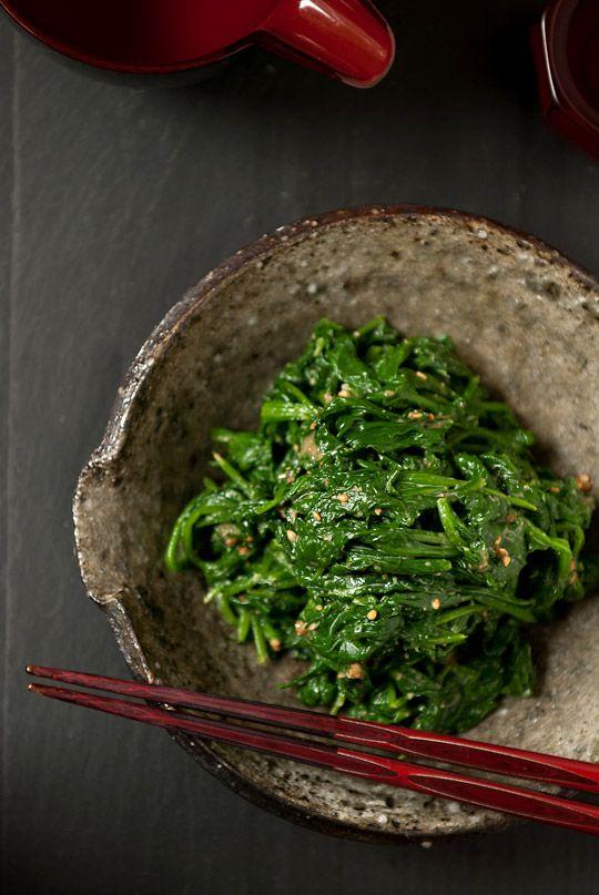 Recipe: Spinach Goma Ae (Sesame Dressing), Japanese Home Meal|ほうれん草のごま和え