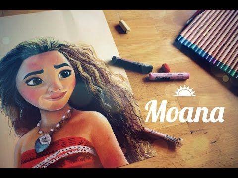 Speed painting Moana - YouTube