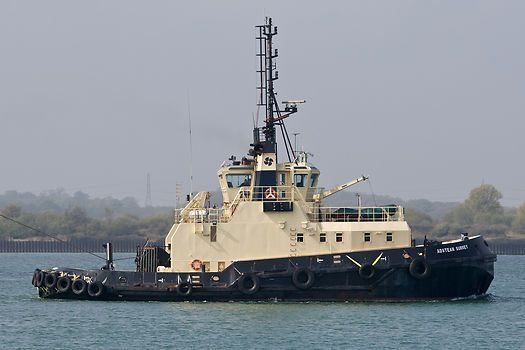The Svitzer Towage tug 'Adsteam Surrey' working in the Port of Southampton