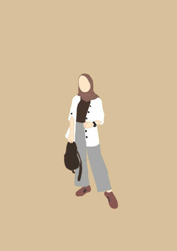 I.pinimg.com ada banyak sekali beragam macam foto profil untuk wa yang bisa sobat pasang di hp untuk memperindah maupun foto profil wa couple aesthetic, foto pasangan anak. Gambar Pp Whatsapp Hijab Aesthetic Kartun Hd Download In 2021 Ilustrasi Karakter Kartun Gambar Seni Ilustrasi