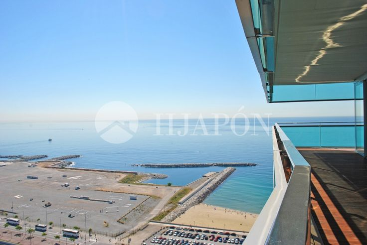 An upscale, spectacular apartment with stunning panoramic sea views; for sale in Barcelona, Spain