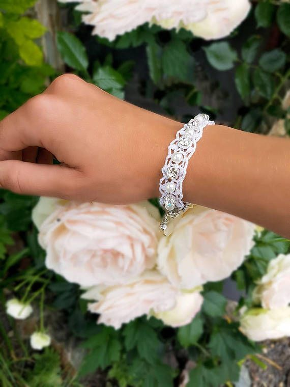 Check out this item in my Etsy shop https://www.etsy.com/listing/558111969/handmade-lace-bracelet-crystals-and