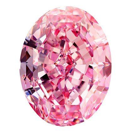 "The 59.6 carat ""Pink Star"" diamond is the largest known diamond to have been rated Vivid Pink."