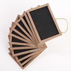 mini chalkboards for rustic wedding - use for signs at bar, photo props, buffet signs, etc